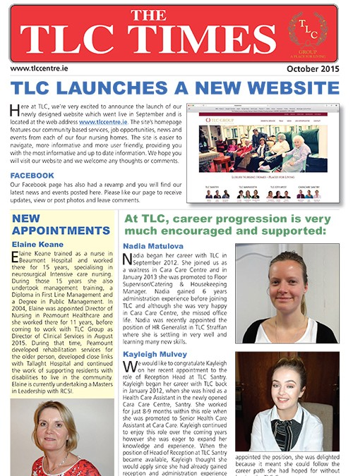 TLC NEWS OCTOBER 2015