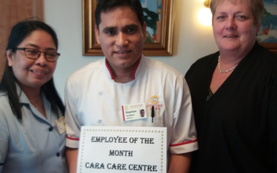 TLC Cara Care August 2018 Employee of the Month