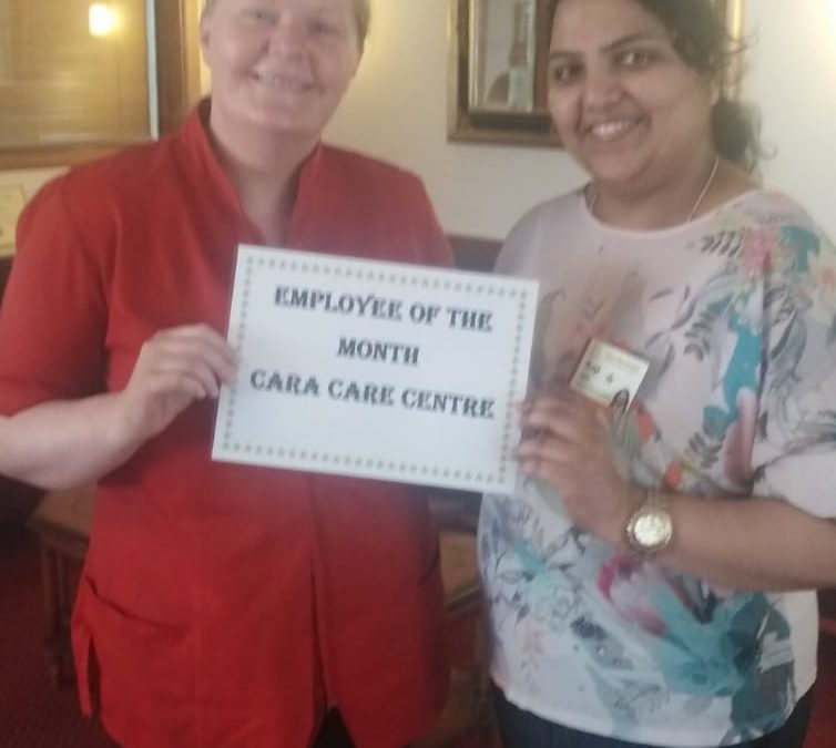 TLC Cara Care April 2019 Employee of the Month