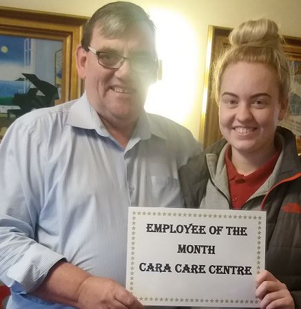 TLC Cara Care August 2019 Employee of the Month